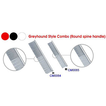 Greyhound Style Comb(Round Spine Handle)   - CM0064 - 0065
